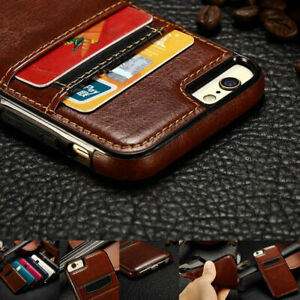 Luxury Leather Wallet Credit Card Slots Back Cover Case For iPhone 7 iPhone 8