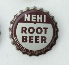 cork bottle cap crown NEHI root beer SODA can acl Royal sign flat top cone label