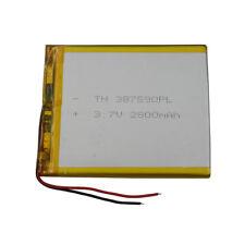 3.7V 2800 mAh Polymer rechargeable Li battery Lipo For PDA ipod Tablet PC 387590