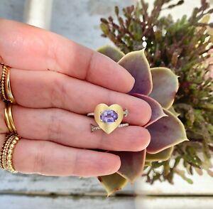 Irene Neuwirth True Love Purple Sapphire And Diamond RIng