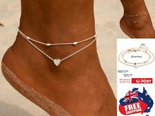 Silver Gold Heart Female Chain Bracelet Foot Beach Anklet Ankle Feet Jewelry 1pc