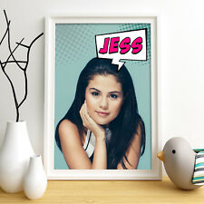 SELENA GOMEZ Personalised Poster A4 Print Wall Art Custom Name ✔ Fast Delivery ✔