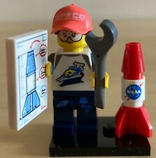 NEW!!  Lego Series 20 Minifigures Space Fan w/ Rocket 71027 #6 COMBINED SHIPPING