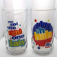 "Diet Pepsi Vintage Glass ""You Got The Right One Baby Uh Huh"" Ray Charles"