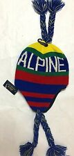 NWT ralph lauren polo alpine ski cap, ear flaps and tassels, one size fits all