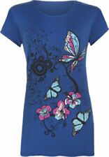 Maglie e camicie da donna Blu Floreale viscosa