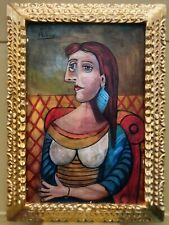 PABLO PICASSO SPANISH ARTIST OIL PAINTING ON CANVAS SIGNED & FRAMED