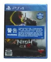 Nioh 2 PlayStation PS4 English Chinese Japanese Factory Sealed