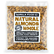 Gorilla Food Co. Natural Almonds Whole Raw - 200g-6.4kg (Great value £ per 1kg)
