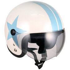 [ Blue Star ] Roof Baby Shield Helmet Jet Scooter Vintage Motorcycle Motorbike