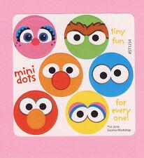 60 Sesame Street Mini Dot Stickers - Elmo, Big Bird, Oscar, Cookie Monster