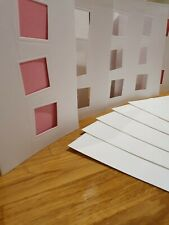 Arts & Crafts - Blank Birthday Fathers Mothers Day Craft Cards - Photo Windows