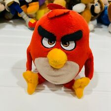 "Angry Birds Movie 7"" Red Plush Bird Soft Toy Small Stuffed Animal"