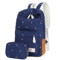 Fashion Women Canvas Girl Cute Backpack Rucksack Travel Shoulder School Book Bag