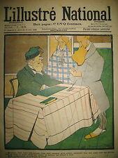 L'ILLUSTRé NATIONAL N° 17 HUMOUR CARICATURE MAUVAISE PIGE DESSINS ? BAC 1903