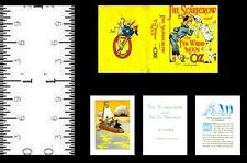 1:12 Scale Miniature Book Scarecrow & Tin Woodman Illustrated Oz Baum