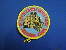 Vintage Gillette Castle State Park Hadlyme Park Embroidered Iron On Patch