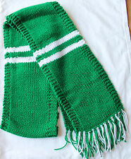 Hand Knit Scarf- NEW YORK JETS Team Football Scarf- NFL Scarf