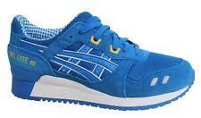Asics Gel-Lyte III Lace Up Blue Leather Mens Trainers H40NQ 4949 U117