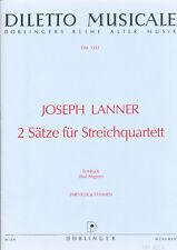 Joseph Lanner - 2 Sätze für Streichquartett