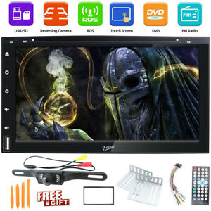 7inch Double 2 Din Radio Head Unit Bluetooth TV Car Stereo Touch Screen +Camera