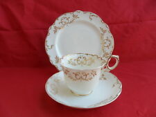 Antique (mid 19th Century) White & Gold Tea Trio (Teacup, Saucer & Plate) B