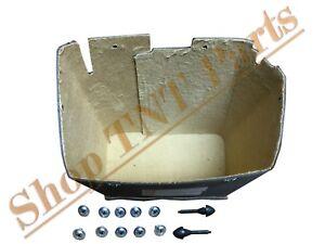 1949 1950 Chevy Bel Air Fleetline Glove Box Liner Tan Felt w/ Screws & Bumpers