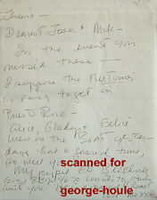 CHARLES NELSON REILLY - LETTER -AUTOGRAPH -1988 - JOSE QUINTERO - JOHNNY CARSON