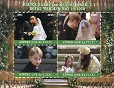 Chad 2018 MNH Prince Harry & Meghan Royal Wedding 4v M/S III Royalty Stamps