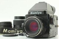 [2 Lens / Mint] Mamiya 645E Film Camera Body + Sekor C 55mm 80mm f2.8 From JAPAN