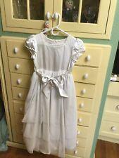 TALBOTS WHITE FLOWER GIRL, WEDDING, COMMUNION DRESS, Size 12