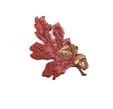 Leaf - Oak Leaf - Autumn - Acorn - Fall - Embroidered Iron On Patch