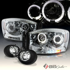 For 06-08 Ram 1500, 06-09 2500/3500 DRL LED Projector Headlights + Fog Lights