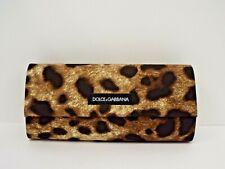 DOLCE & GABBANA Original Small Sunglasses Leopard Print Magnetic Case & Cloth