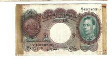 Barbados 🎇 GOVERNMENT OF BARBADOS Dec 1, 1939 $1 P-2b 🎇 WWII SHORT SNORTER
