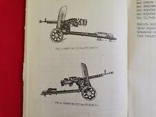 Vtg Manual 12.7 mm DshK 1938 Heavy Machine Gun Weapon Military Russian Ussr Rare