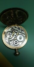Antique Gold Filled howard pocket watch in original case winds and runs