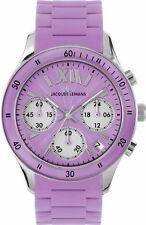 Jacques Lemans Rome Sports Orologio Cronografo da Polso, Donna, al (i1D)