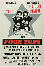 THE FOUR TOPS Motown Review Original 1968 Boxing Style Cardboard Concert Poster