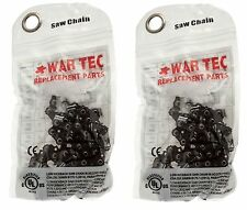 """WAR TEC 18"""" Chainsaw Chain Pack Of 2 Fits HUSQVARNA 350 445E 450E"""