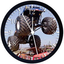 Big Truck Black Frame Wall Clock Nice For Decor or Gifts E309