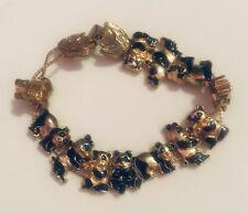 Vintage Panda Bead And Chain Bracelet