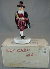 Vintage Sebastian Miniatures Figure With Box 1950 Town Crier # 6247