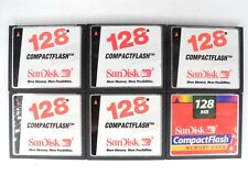 Lot Of 6x SanDisk 128MB CF Compact Flash Memory Cards