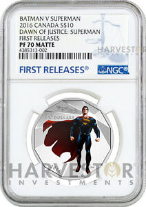 2016 BATMAN V SUPERMAN: DAWN OF JUSTICE $10 - NGC PF70 FIRST RELEASES - SUPERMAN