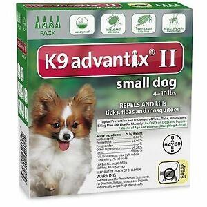 ADVANTIX II Dog Green 4pk 4-10lb