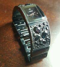 Black women's guess watch with rhinestones
