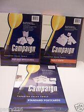 3 Adams Campaign Printer Tools Printable Table Tents,Pop up Brochures, Postcards