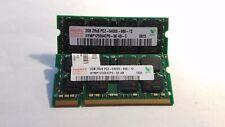 Hynix 4GB(2X2GB) PC2-6400 DDR2-800MHz non-ECC Unbuffered CL6 200-Pin SoDimm D-RK