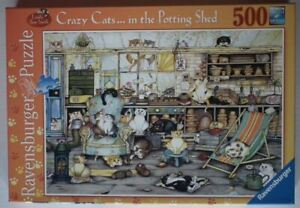 Crazy Cats in Potting Shed - Ravensburger 500 piece Jigsaw - Excellent condition